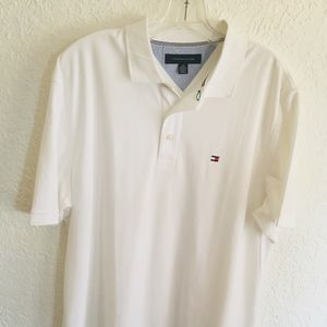 Tommy Hilfiger White Men's Large Polo Style Shirt